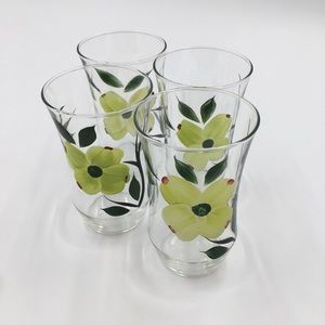 Kitchen - Hand painted water Glasses